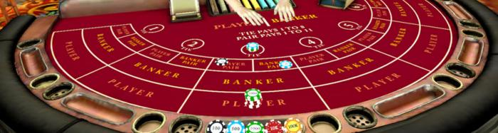 online baccarat table and dealer
